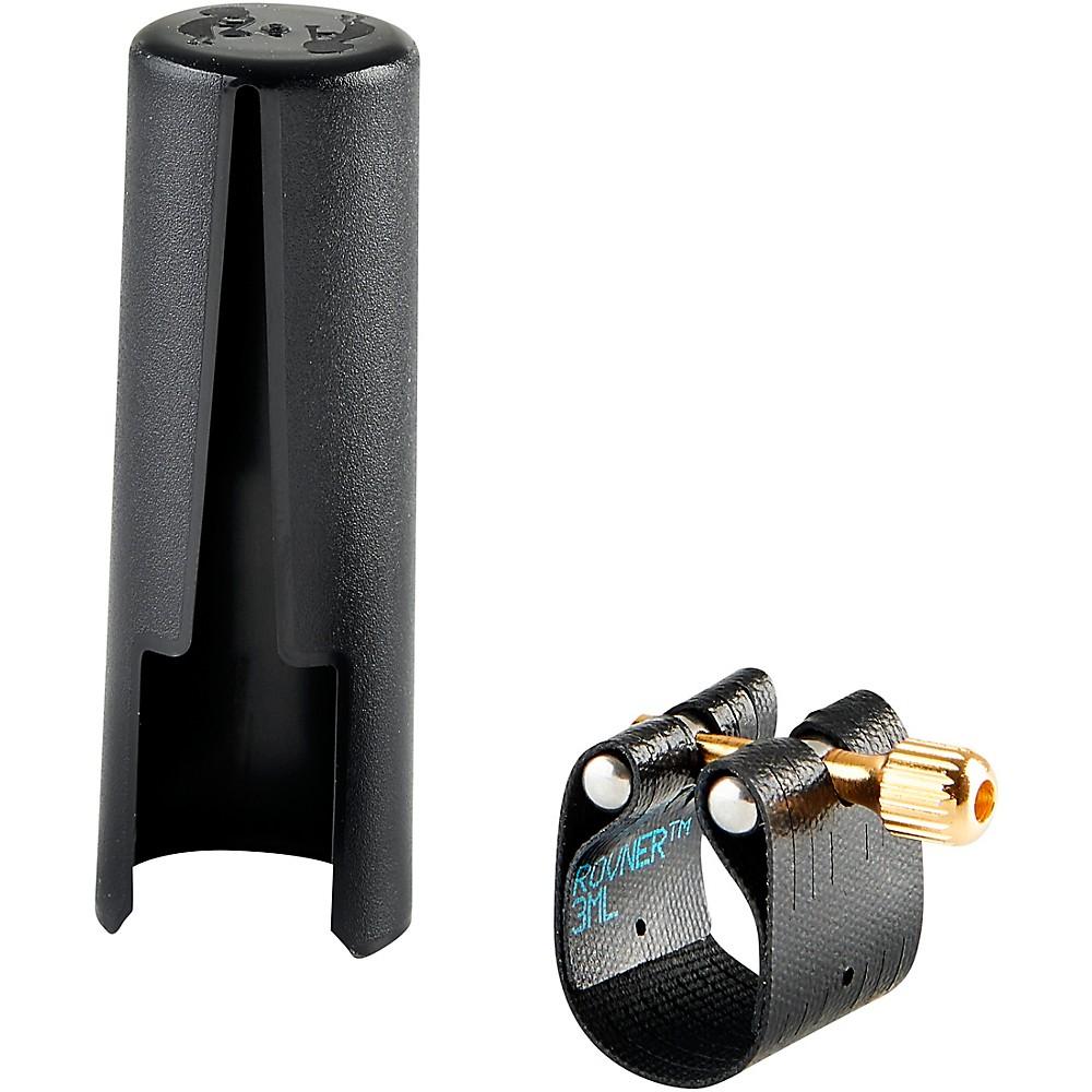 Rovner Dark Baritone Saxophone Ligature And Cap 3ML - Fits Most Metal Tenor or Bari Sax Mouthpieces