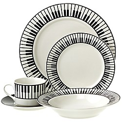 AIM 20-Piece Dinnerware Set with Keyboard Design (33300)