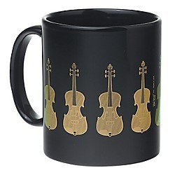 AIM Black/Gold Violin Coffee Mug (1804)