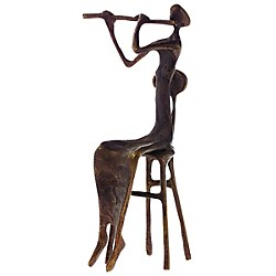 AIM Brass Flutist Figurine (68200)