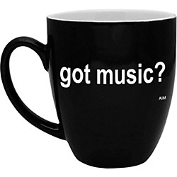 AIM Got Music? Black and White Bistro Coffee Mug (56154)