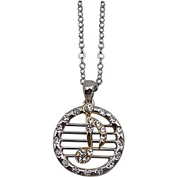 AIM Musical Note/Staff Necklace (N496)