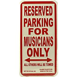 AIM Musicians Only Metal Sign (26000)