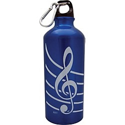 AIM Treble Clef Aluminum Bottle (Blue) (71490B)