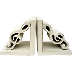 AIM Treble Clef Bookends (Antique White) (5242)