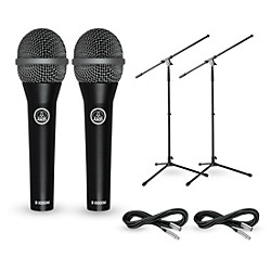 AKG D8000M with Cable and Stand 2 Pack (D8000M2Pack)