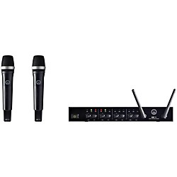 AKG DMS70 Wireless Microphone Dual Vocal Set with D8000M Handheld (DMS70DualVocal D8000M)