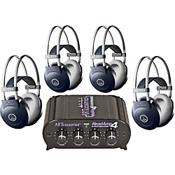 AKG Headamp 4/K77 Headphone Four Pack (KIT-500883)