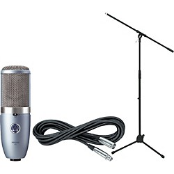 AKG Perception 420 Condenser Mic with Cable and Stand (PERCEPTION420CABLESTAND)
