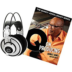 AKG Quincy Jones Q701 Headphones with Q on Producing Book (Q701WHTQONPRODUCING)