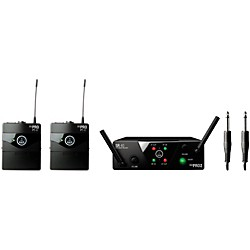 AKG WMS 40 Mini2 Instrument Wireless Microphone Set with D8000M Handheld (WMS40Mini2Inst D8000M)