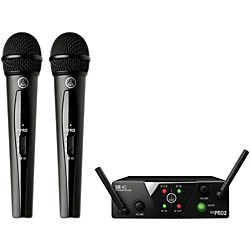 AKG WMS 40 Mini2 Vocal Wireless Microphone Set with D8000M Handheld (WMS40Mini2Vocal D8000M)