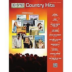 Alfred 10 For $10 Country Hits-2008 Edition (Piano, Vocal, and Chords Book) (00-31469)