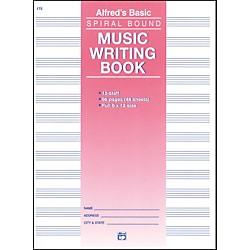 Alfred 12 Stave Music Writing Book (9 x 12) (00-175)