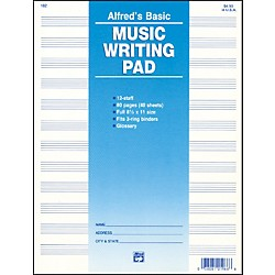 "Alfred 12 Stave Music Writing Pad (8 1/2"" x 11"") (00-182)"