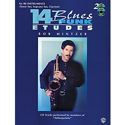 Alfred 14 Blues & Funk Etudes for B-Flat Instruments Book/2 CDs (00-EL9605CD)