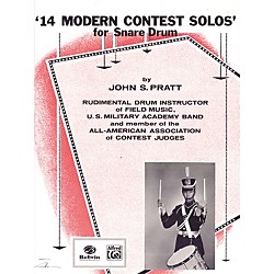 Alfred 14 Modern Contest Solos for Snare Drum Book (00-EL01416)