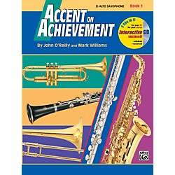 Alfred Accent on Achievement Book 1 Alto Sax Book & CD (00-17087)