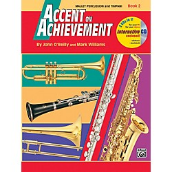 Alfred Accent on Achievement Book 2 Mallet Percussion & Timpani Book & CD (00-18272)