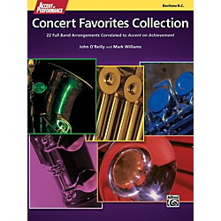 Alfred Accent on Performance Concert Favorites Collection Bari Bass Clef Book (00-41978)