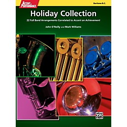 Alfred Accent on Performance Holiday Collection Baritone Bass Clef Book (00-41975)