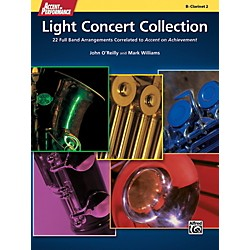 Alfred Accent on Performance Light Concert Collection Clarinet 2 Book (00-41340)
