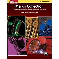 Alfred Accent on Performance March Collection Tenor Sax Book (00-41371)