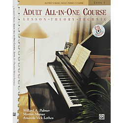 Alfred Alfred's Basic Adult All-in-One Course Book 1 Book 1 & CD (00-5756)