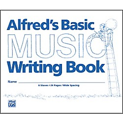 "Alfred Alfred's Basic Music Writing Book (8"" x 6"") (00-200)"