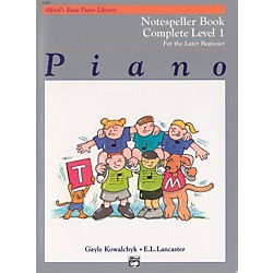 Alfred Alfred's Basic Piano Course Notespeller Book Complete 1 (1A/1B) (00-6160)