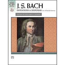 Alfred Bach Inventions & Sinfonias (Two- & Three-Part Inventions) Piano Book & CD (00-22521)