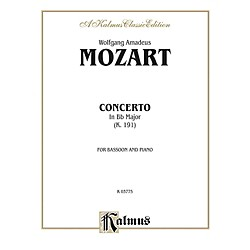 Alfred Bassoon Concerto K. 191 for Bassoon By Wolfgang Amadeus Mozart Book (00-K03775)