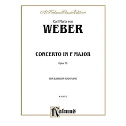 Alfred Bassoon Concerto Op. 75 for Bassoon By Carl Maria von Weber Book (00-K03972)