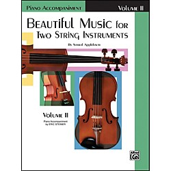 Alfred Beautiful Music for Two String Instruments Book II Piano Acc. (00-EL02211)