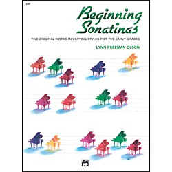 Alfred Beginning Sonatinas Elementary / Late Elementary Piano Book (00-2497)