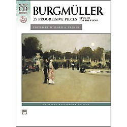 Alfred Burgmuller 25 Progressive Pieces Op. 100 Early Intermediate/Late Intermediate Piano Book & CD (00-22524)