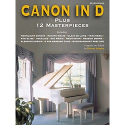 Alfred Canon in D Plus 12 Masterpieces for Piano (Book) (00-ELM00011)