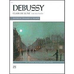 Alfred Clair de lune (from Suite Bergamasque) Piano Solo Book (00-2160)