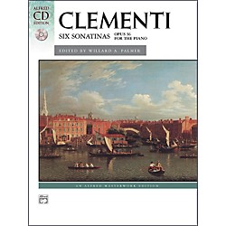 Alfred Clementi Six Sonatinas Op. 36 Intermediate Book & CD Piano (00-22525)