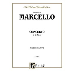Alfred Concerto in C Minor for Oboe By Benedetto Marcello Book (00-K04515)