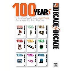 Alfred Decade by Decade 100 Years of Popular Hits for Easy Piano Book (00-39251)