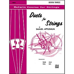Alfred Duets for Strings Book III Violin (00-EL02073)