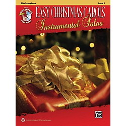 Alfred Easy Christmas Carols Instrumental Solos Alto Sax Book & CD (00-38754)