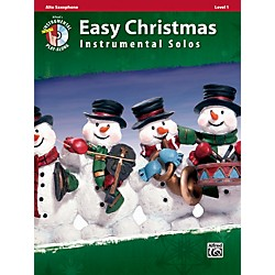 Alfred Easy Christmas Instrumental Solos Level 1 Alto Sax Book & CD (00-33277)
