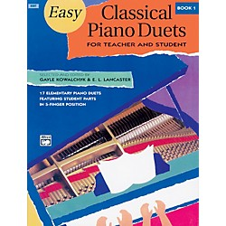 Alfred Easy Classical Piano Duets for Teacher and Student Book 1 (00-6507)