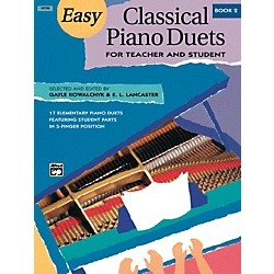 Alfred Easy Classical Piano Duets for Teacher and Student Book 2 (00-16789)