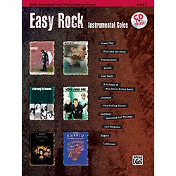 Alfred Easy Rock Instrumental Solos Level 1 for Strings Violin Book & CD (00-32615)
