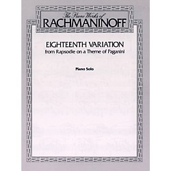 Alfred Eighteenth Variation (from Rhapsodie on a Theme of Paganini) Piano Solo Book (00-F02063)