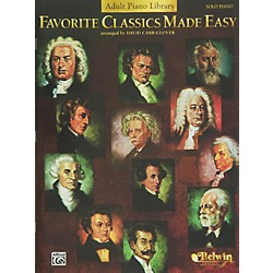 Alfred Favorite Classics Made Easy (Adult Piano Library) Book (00-EL9806)