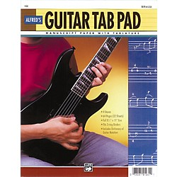 "Alfred Guitar TAB Pad (8-1/2"" x 11"") 64 pages (3-hole punched for ring binders) (00-4400)"